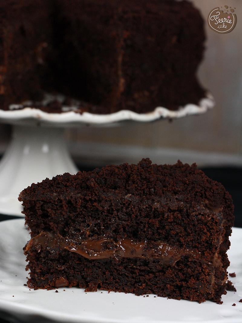 gateau chocolat et ganache praline3