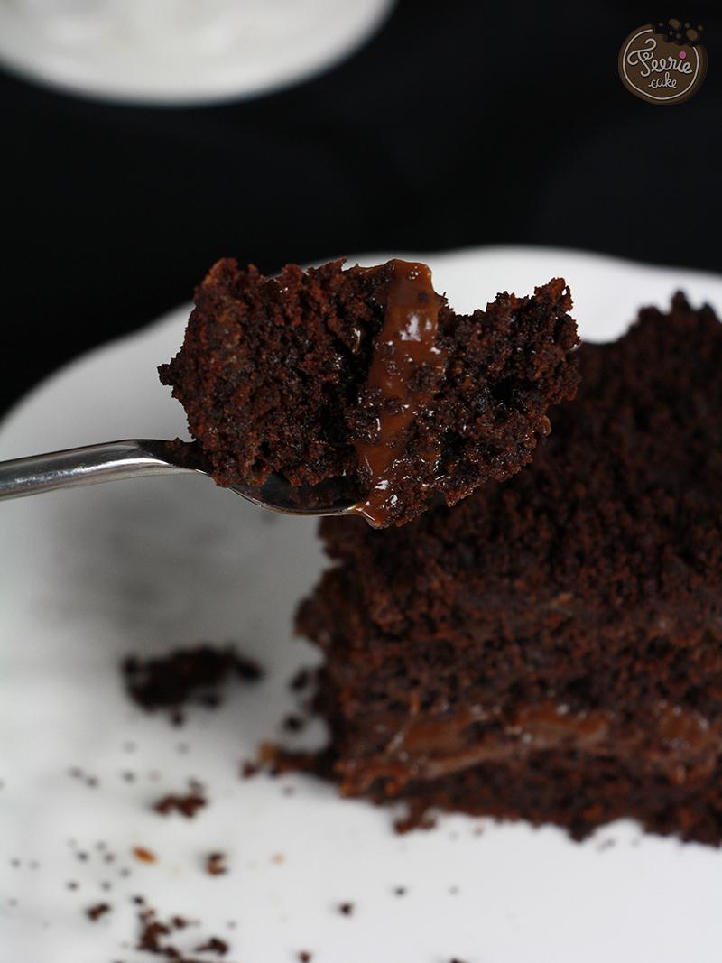 gateau chocolat et ganache praline5