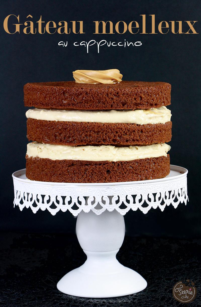 Gâteau moelleux au cappuccino