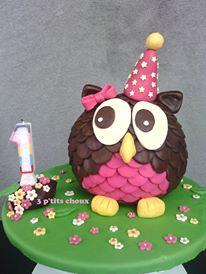 Le gâteau «hibou» de Marie-Anne