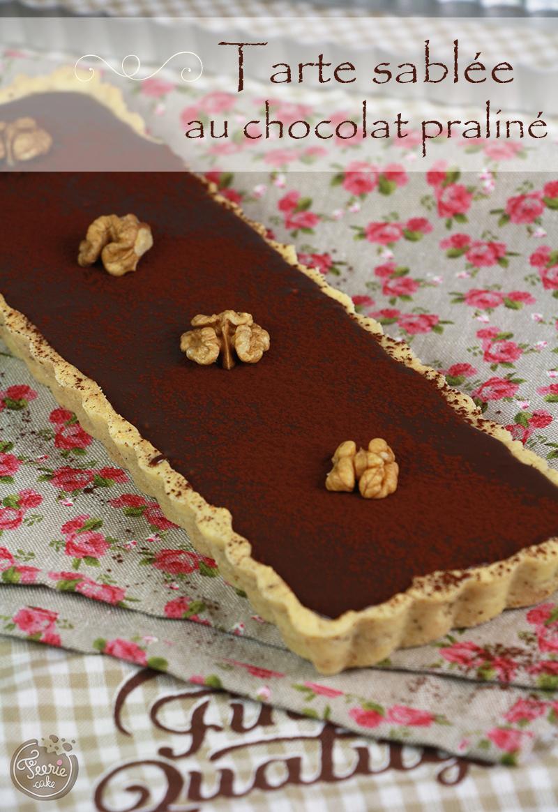 tarte au chocolat praline