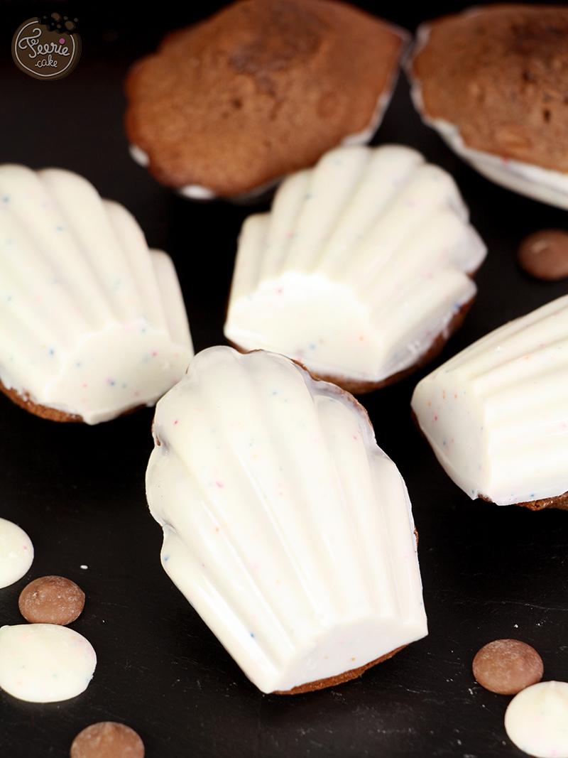 Madeleines au chocolat coeur choco