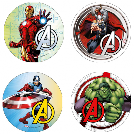disque-azyme-avengers-21cm-differents-modeles