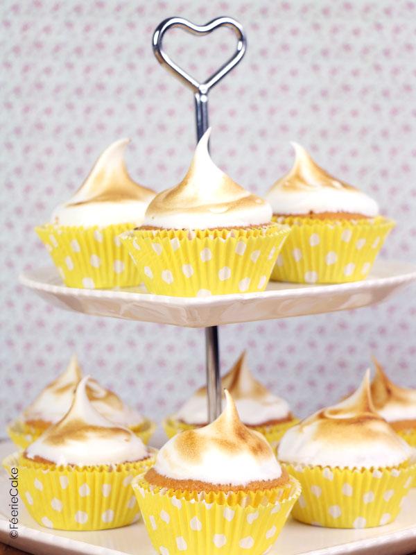 Recette de cupcakes au citron meringué