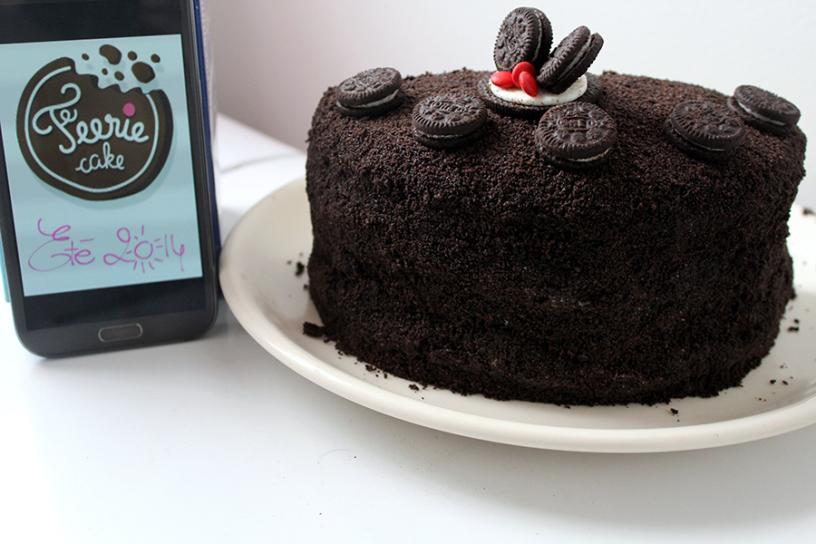 Le gâteau Oreo de Céline