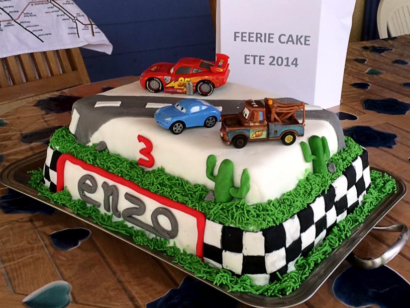 Le gâteau Cars de Fred & Carine
