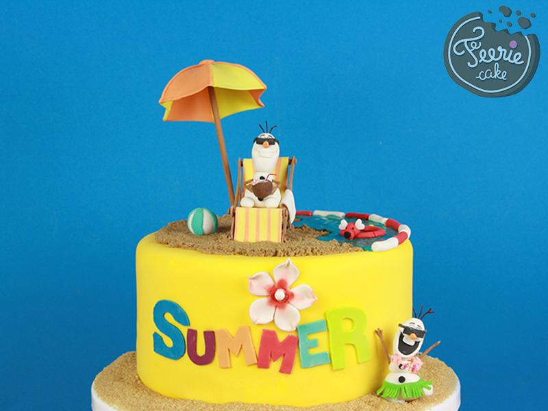 Gâteau Olaf en été