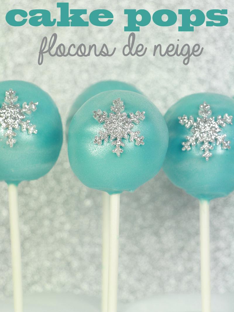 Cake pops flocons