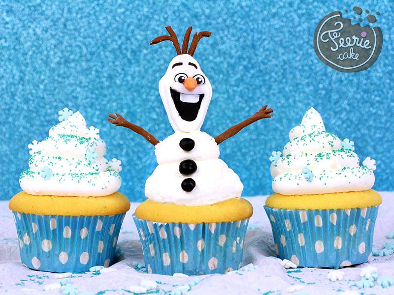 Cupcakes Olaf à la neige