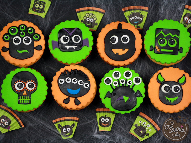 Cupcakes petits monstres