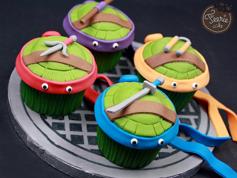 Cupcakes tortues ninja f erie cake - Image de tortue ninja ...