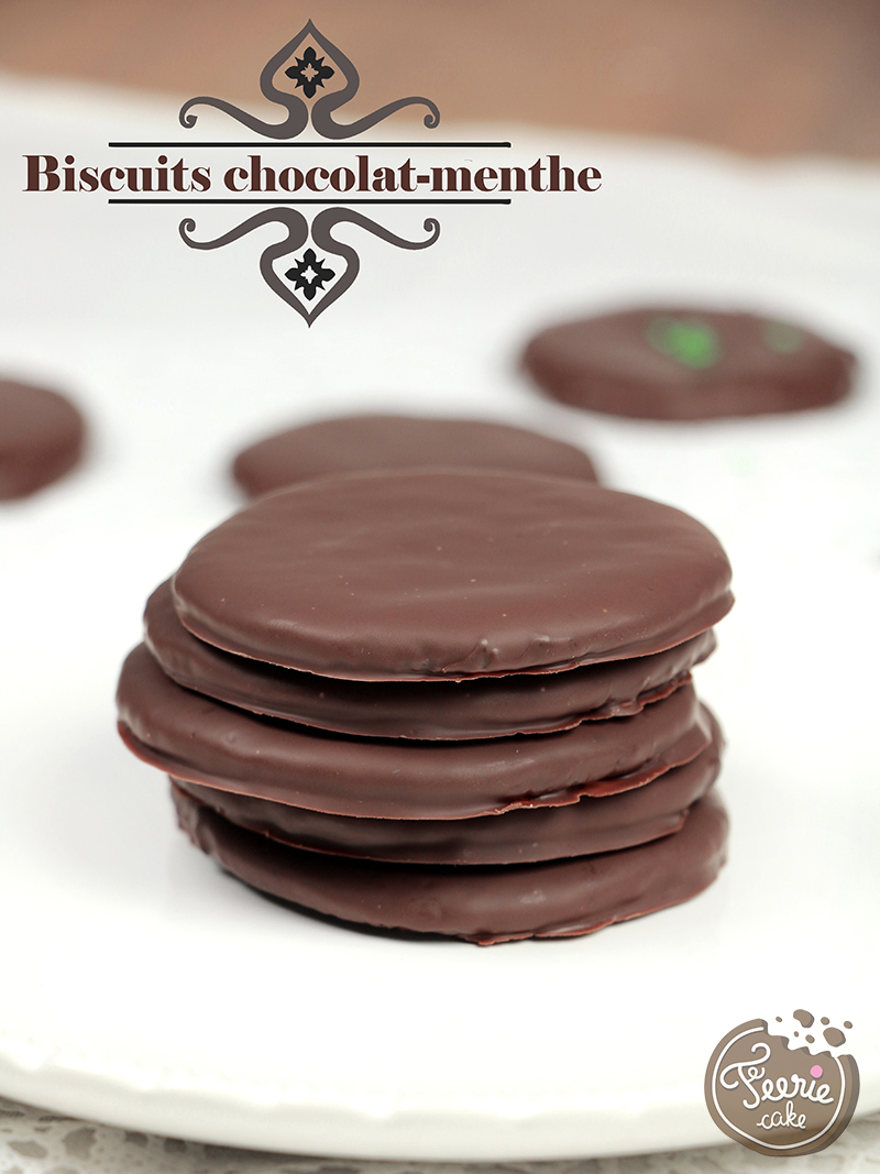 Biscuits chocolat menthe