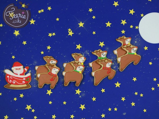 """Biscuits """"l'attelage du Père-Noël"""""""