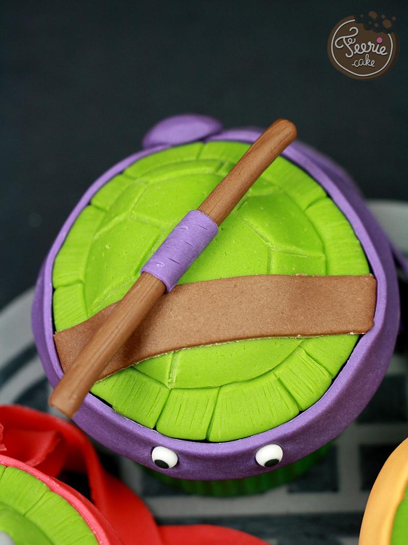 Cupcakes tortues ninja f erie cake - Tortue ninja orange ...