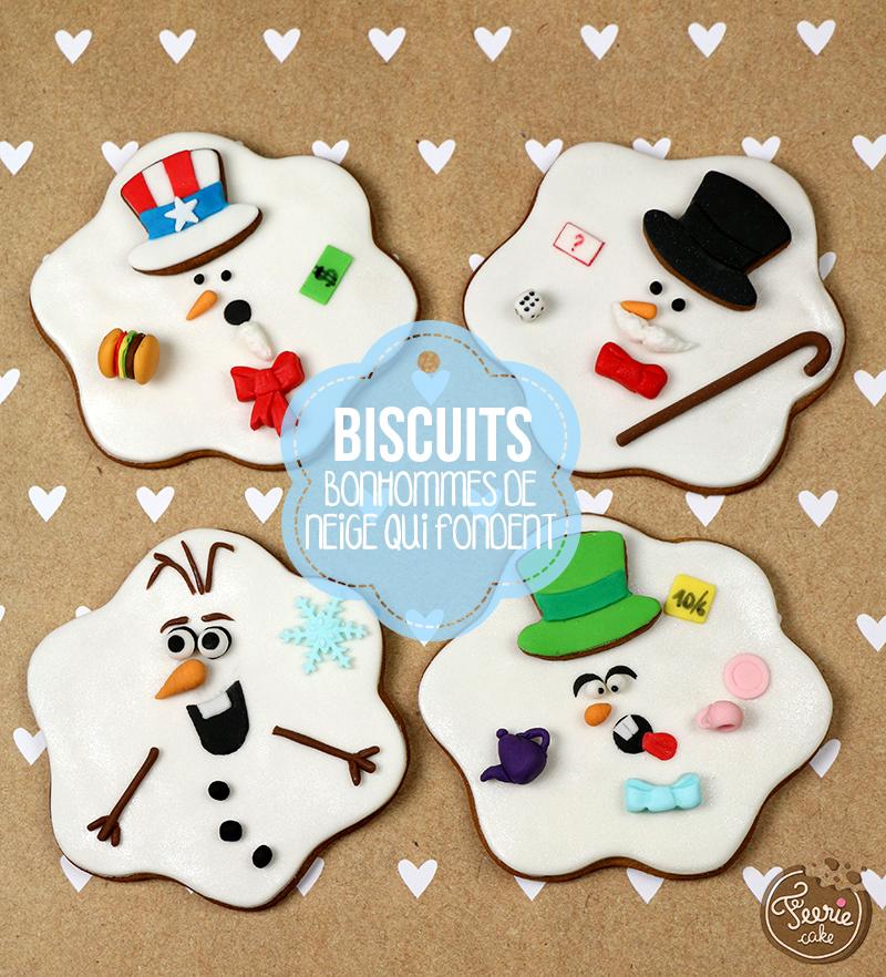 """Biscuits """"bonhommes de neige qui fondent"""""""