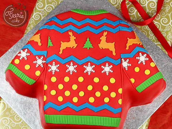 Gâteau pull-over de Noël