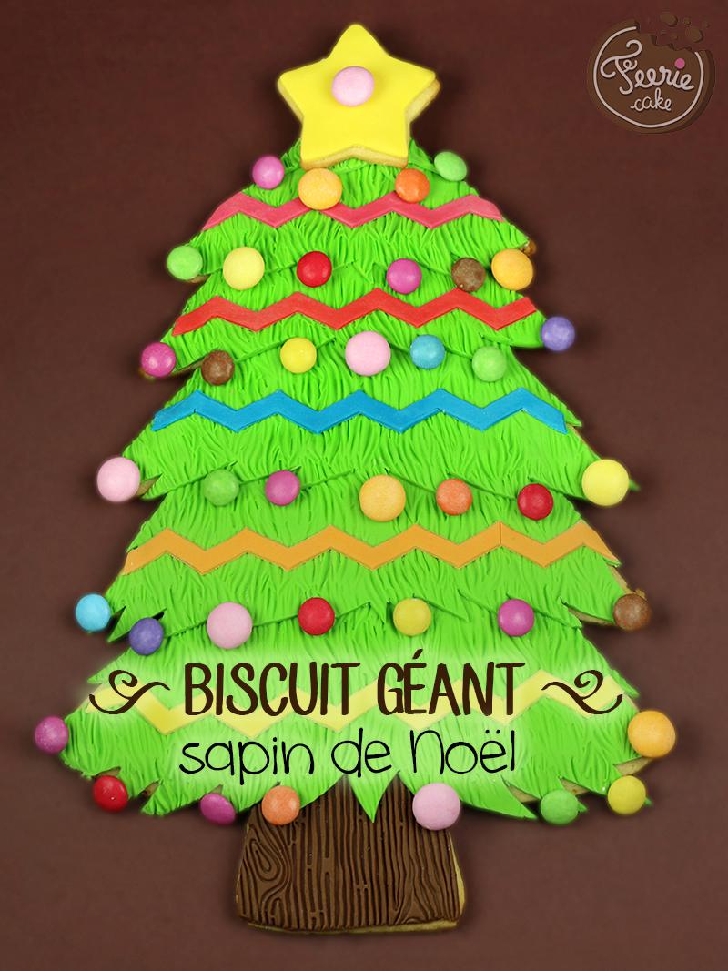 Biscuit géant sapin de Noël