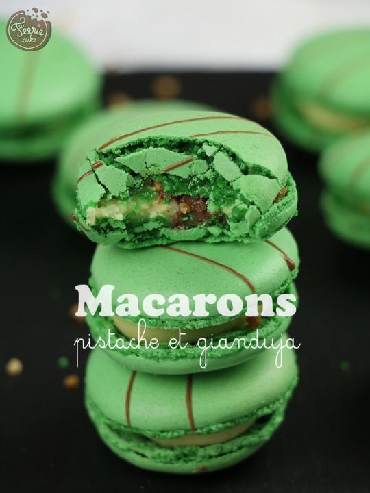 Macarons pistache gianduja