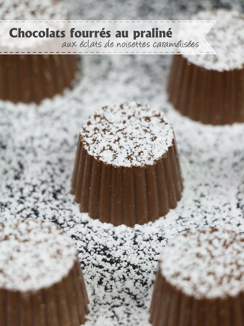 Chocolats fourrés au praliné