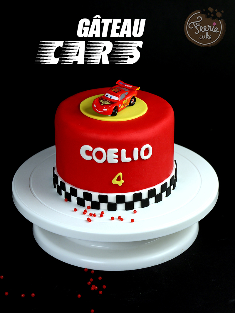 g teau cars avec flash mcqueen f erie cake. Black Bedroom Furniture Sets. Home Design Ideas
