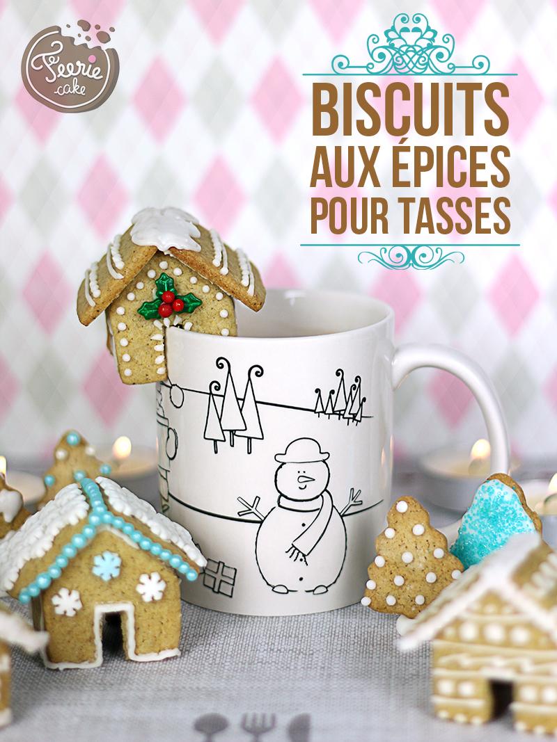Biscuits aux épices pour tasses