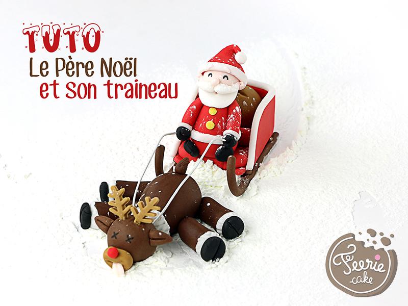 """Tutoriel """"le Père Noël et son traîneau"""""""
