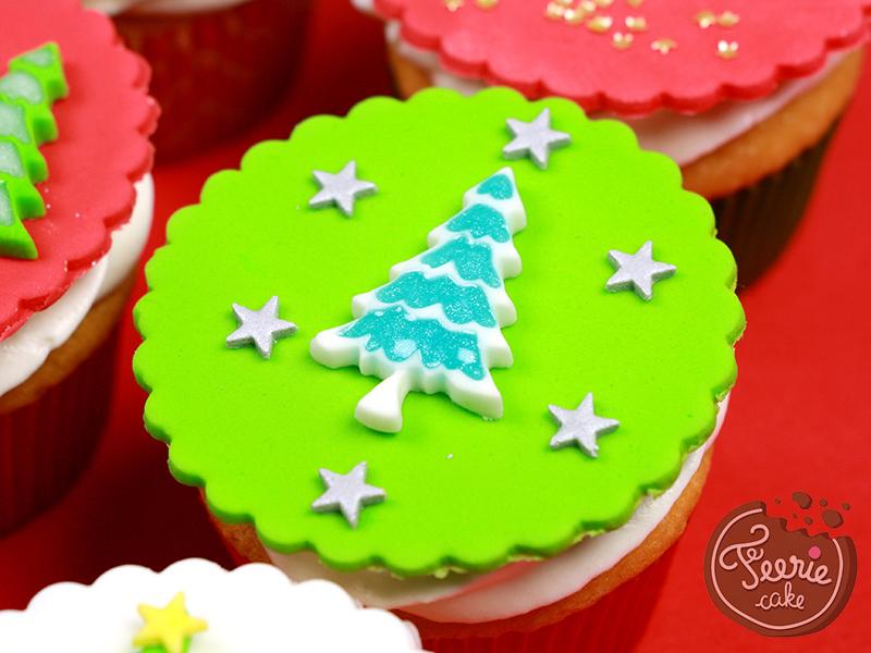 Cupcakes Noël sapin
