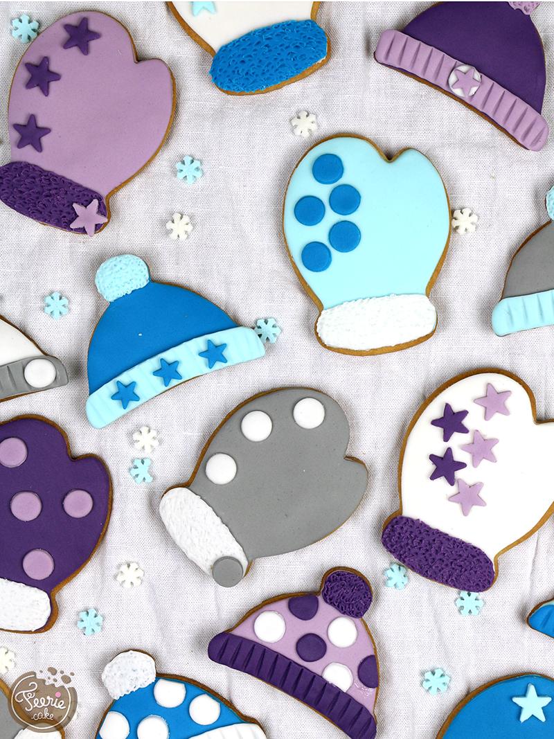 Biscuits décorés Hiver