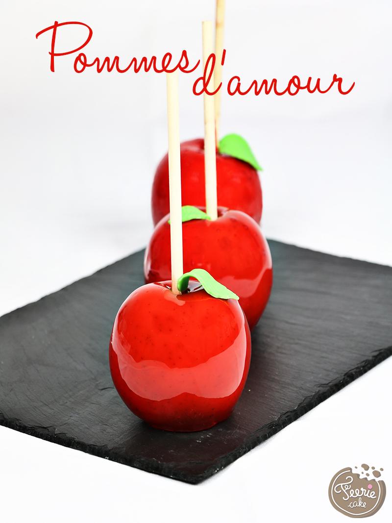 Pommes d'amour pour Mardi Gras