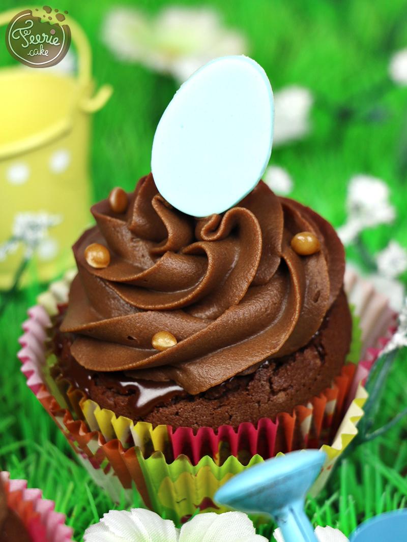 Cupcakes chocolat-caramel paques 2