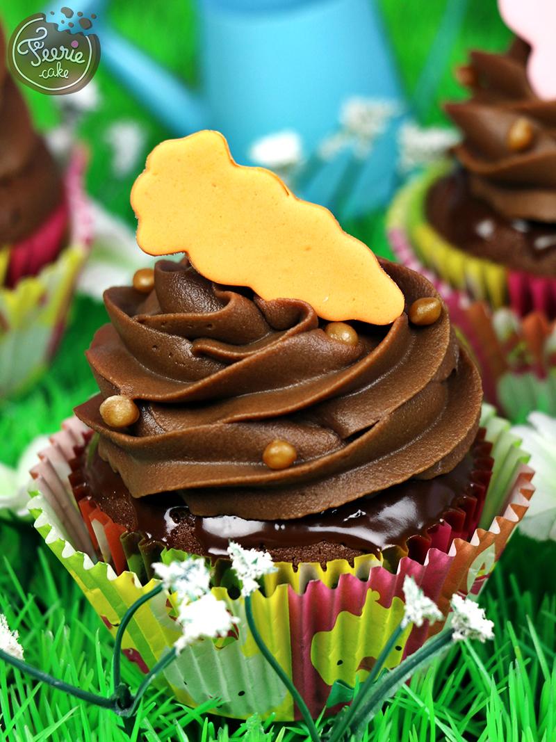 Cupcakes chocolat-caramel paques 3