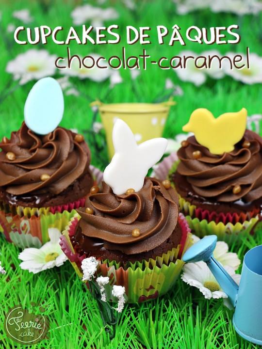 Cupcakes chocolat-caramel paques