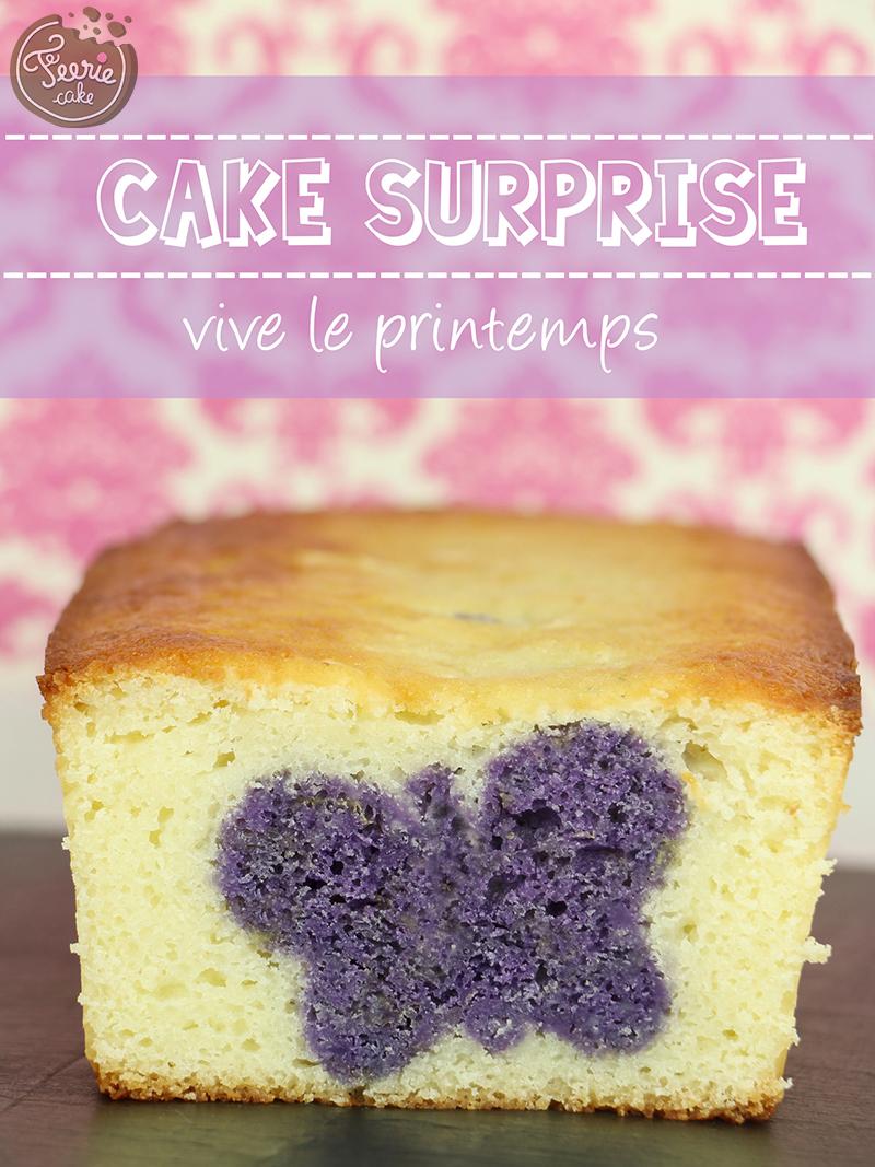 """Cake surprise """"Vive le printemps"""""""