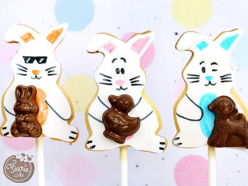 """Cookie pops """"Lapins de pâques"""""""
