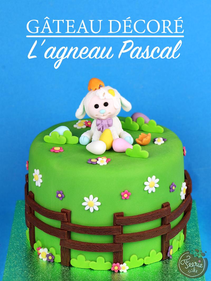 """Gâteau décoré de Pâques """"L'agneau Pascal"""""""