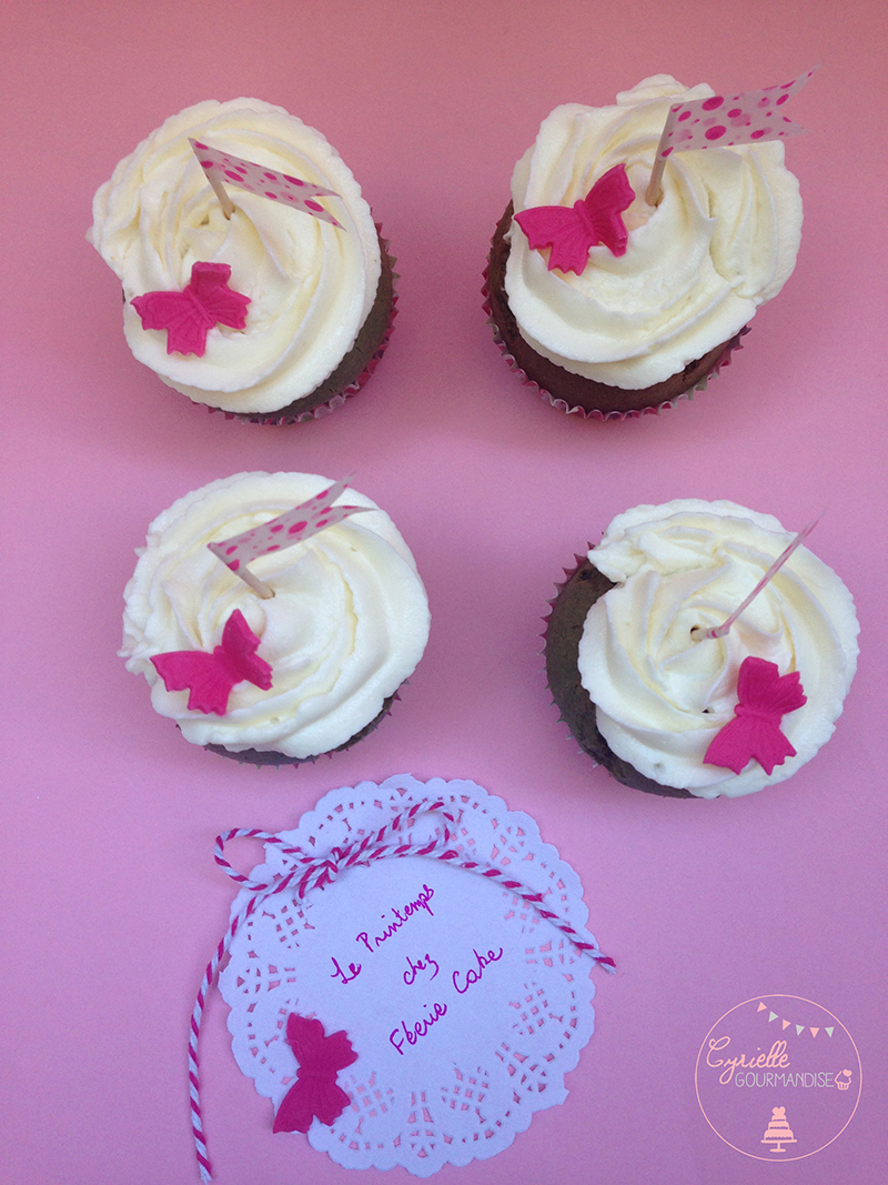 Cupcakes spiruline Cyrielle