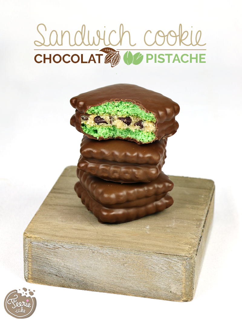 Sandwich cookies pistache chocolat