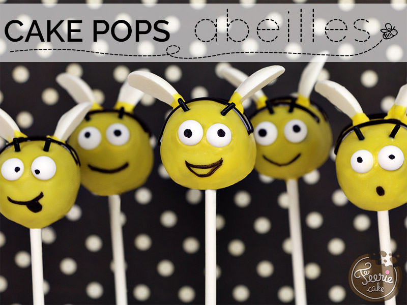 Cake pops abeilles