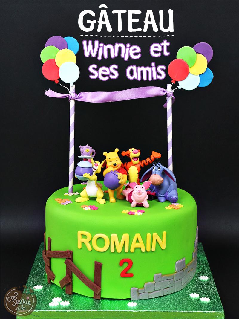"""Gâteau """"Winnie et ses amis"""""""