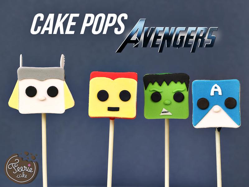 Cake pops Avengers 4