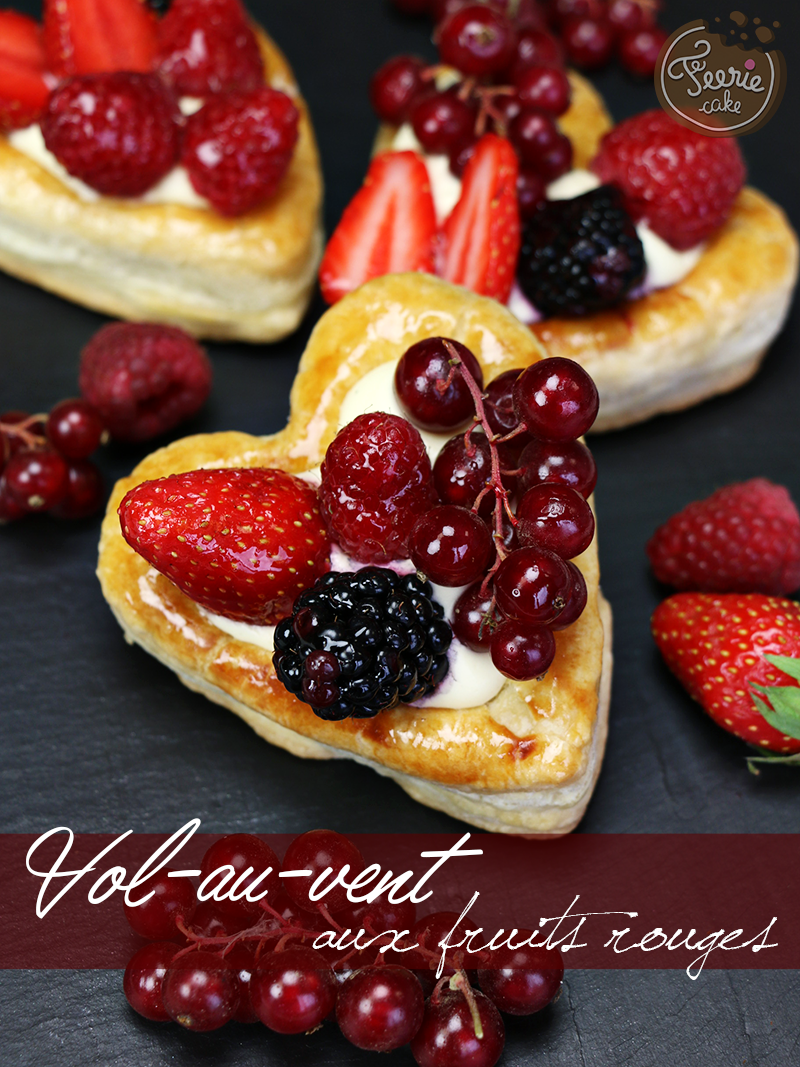 Vol au vent aux fruits rouges