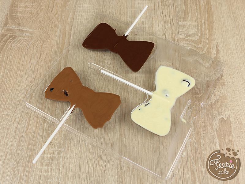 Tuto sucette chocolat noeud pap 4