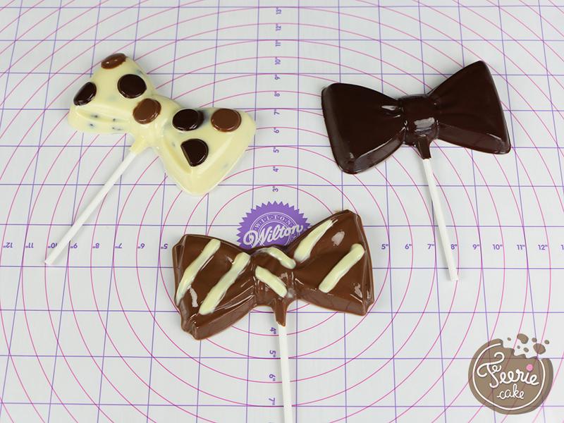 Tuto sucette chocolat noeud pap 5