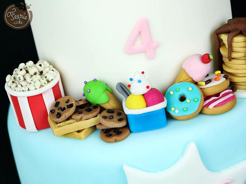 Gâteau anniversaire junk food 4