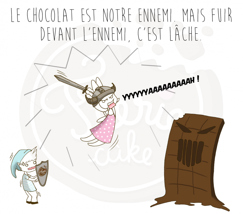 bd feerie cake le chocolat est notre ennemi