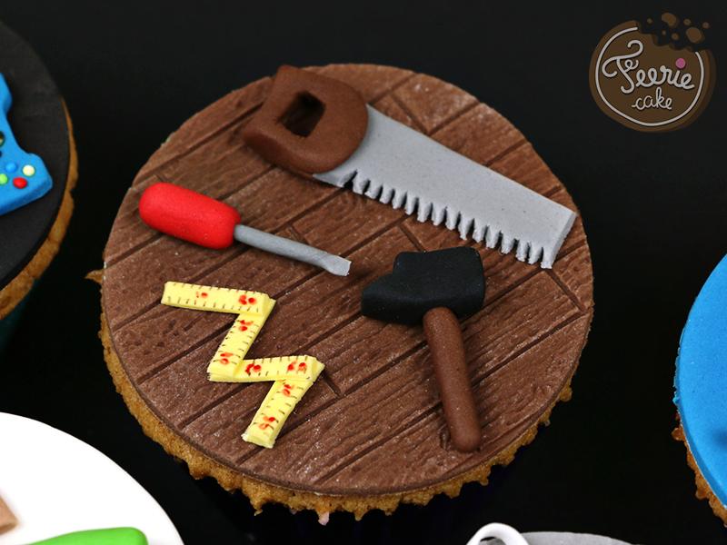 """Cupcakes toppers """"Mon père ce héros"""" 2"""