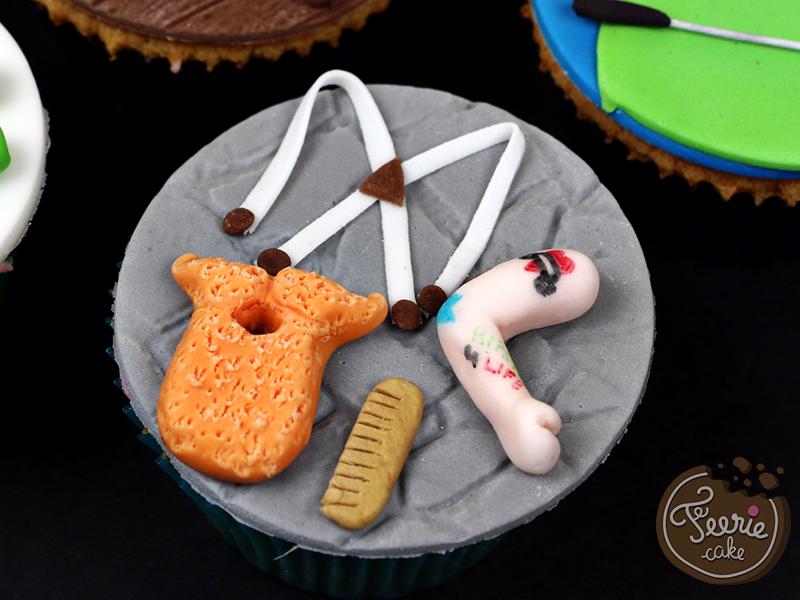 """Cupcakes toppers """"Mon père ce héros"""" 4"""