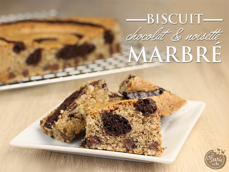 Biscuit marbré chocolat et noisette 1