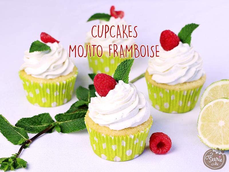 Cupcakes mojito framboise