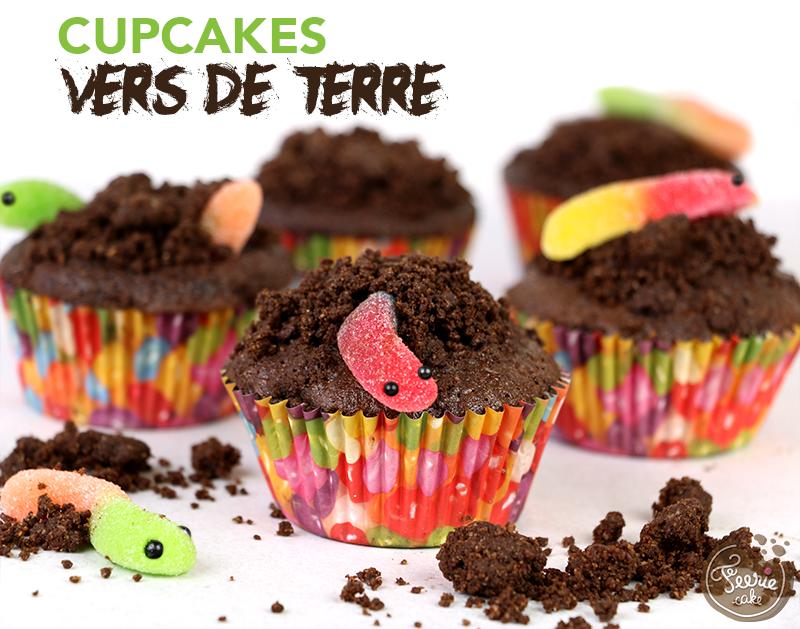 Cupcakes vers de terre 1